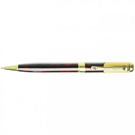 """Ручка подарочная """"Darvish"""" корпус черный с золотистой отделкой в футляре"""