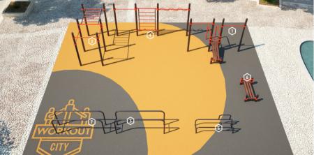 Площадка для тренировки воркаута и подготовки сдачи норм ВФСК AWp-13_0