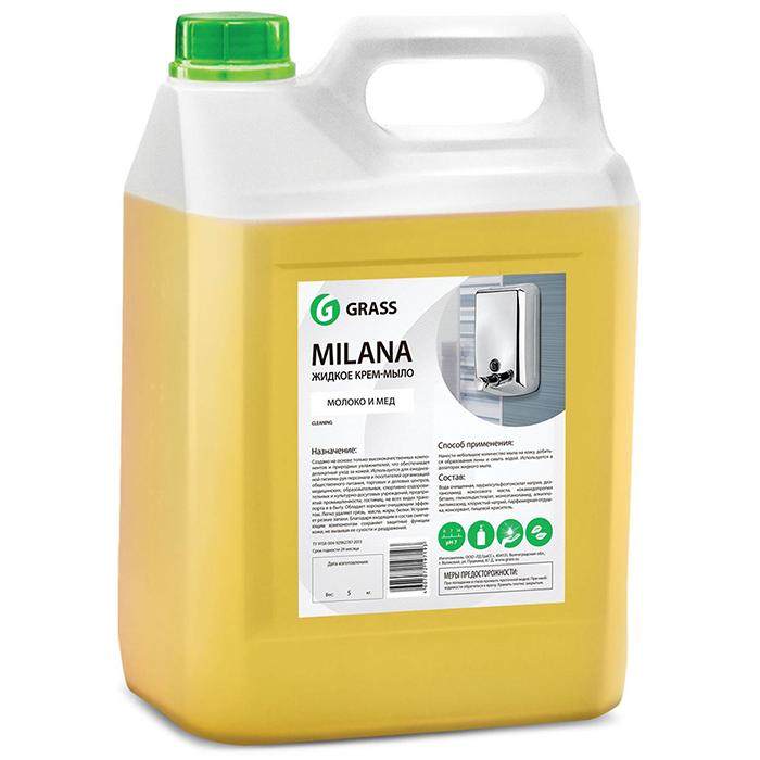 GraSS Жидкое крем-мыло Milana молоко/мед 5л (4) канистра_0