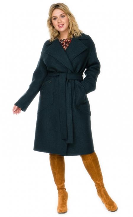 Женское пальто большого размера_0