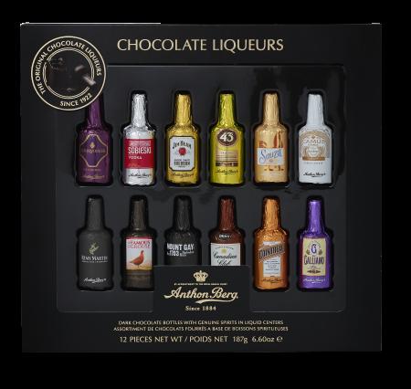 Anthon Berg Шоколадные конфеты бутылочки с премиальным алкоголем 187г_0