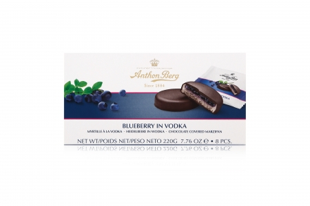 Anthon Berg Шоколадные конфеты с марципаном Голубика в водке 220г_1
