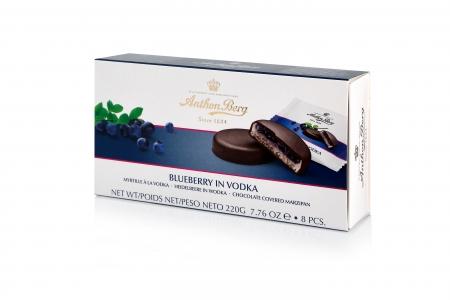 Anthon Berg Шоколадные конфеты с марципаном Голубика в водке 220г_0