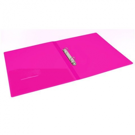 "Папка на 2 кольцах BRAUBERG ""Neon"", 25 мм, внутренний карман, неоновая розовая_4"