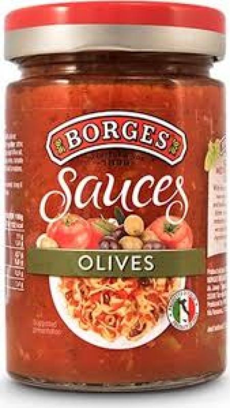 Borges Соус томатный с оливками и маслинами 300г (12) с/б