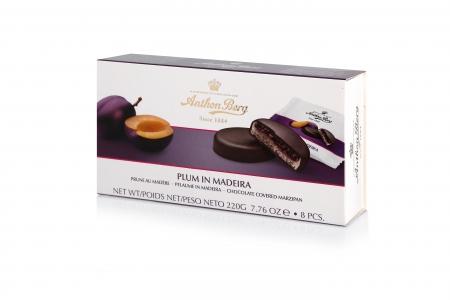 Конфеты шоколадные Anthon Berg с марципаном Слива в мадейре 220г_0