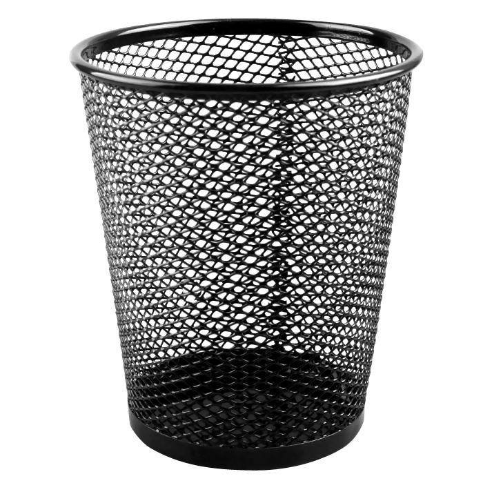 """Стакан для канцелярских принадлежностей (серый ,черный) """"Darvish"""" металлический"""