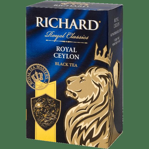 "чай Ричард ""Роял Цейлон"" сред лист 90гр (14)"