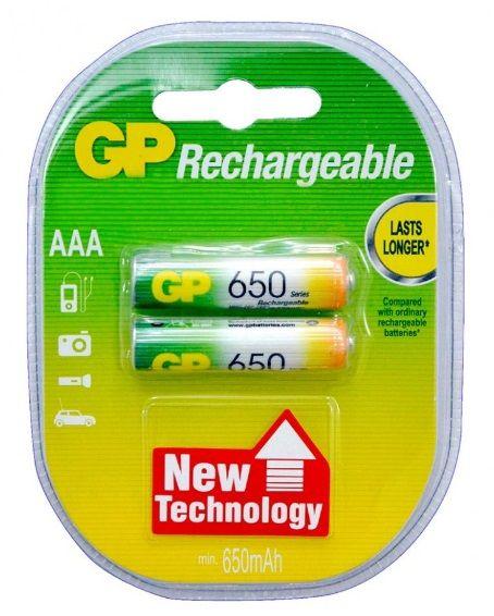Аккумулятор GP R03 (650 mAh) 2бл.