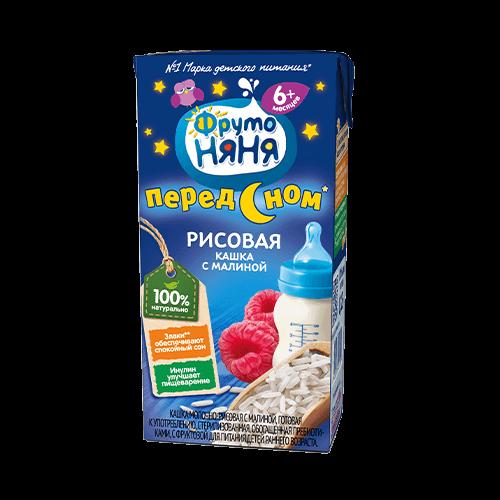 ФрутоНяня Каша Молочная Рис / Малина 0,2л