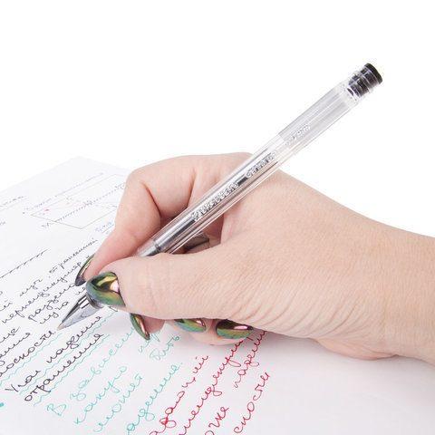 """Ручка гелевая BRAUBERG """"Jet"""", черная"""