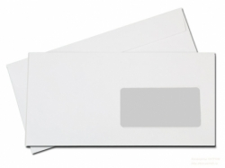Конверт Е65, с окном, силикон