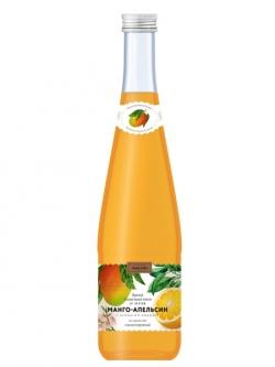 """Напиток сильногазированный """"Аквалайн"""" вкус Манго 0,5 л, стекло"""