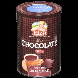 ЭЛЬЗА  Горячий шоколад 325 г (12) ж/б НОВ