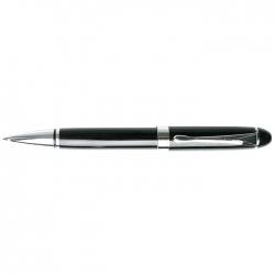 """Ручка подарочная """"Darvish"""" корпус черный с серебристой отделкой в футляре"""