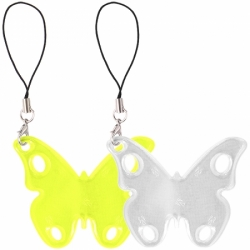 Светоотражающий брелок бабочка