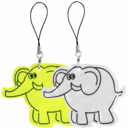 Светоотражающий брелок слон