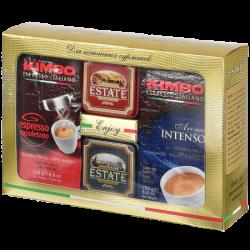 Набор кофе Kimbo 2 x 250г + чай Estate 2 x 45г (8) карт