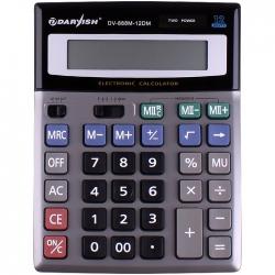 """Калькулятор настольный 12 pазр. """"Darvish"""" двойное питание 200*150*33мм двойная память"""
