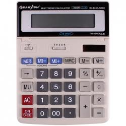 """Калькулятор настольный 12 pазр. """"Darvish"""" двойное питание 200*150*27мм двойная память"""