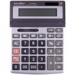 """Калькулятор настольный 14 pазр. """"Darvish"""" двойное питание 200*150*26мм"""