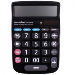 """Калькулятор настольный 12 pазр. """"Darvish"""" двойное питание 160*106*18,5мм"""
