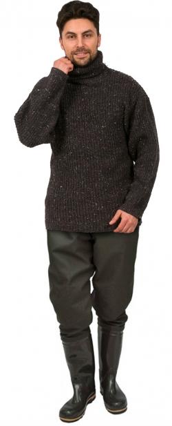 Свитер для рыбака серый
