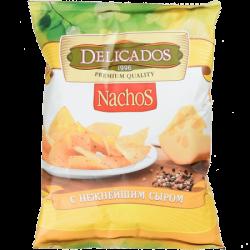 Чипсы кукурузн.Начос Сыр Delicados 150г (15)