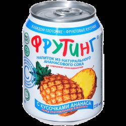 Fruiting Нап из ананас сока с кус ананаса 238мл (24)ж/б