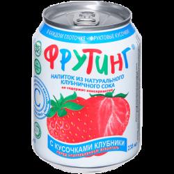 Fruiting Нап из клубничного сока с кус клубник 238мл (24)ж/б