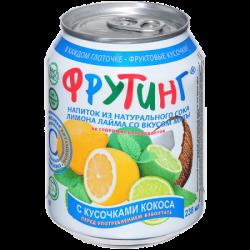 Fruiting Нап Лайм-лимон-мята с кокосом 238мл (24)ж/б