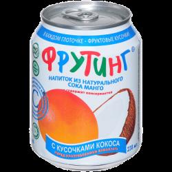 Fruiting Нап из сока манго с кус кокоса 238мл (24)ж/б