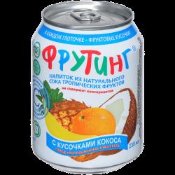 Fruiting Нап из сока троп фруктов с кус кокоса 238мл (24)ж/б