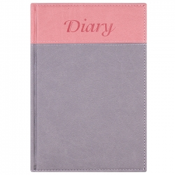 "Ежедневник 14*20,5см недатированный 192л ""Darvish"" обложка к/з 2-х цв роз-сер, сер-роз.,сер-чёр, чёр-сер"