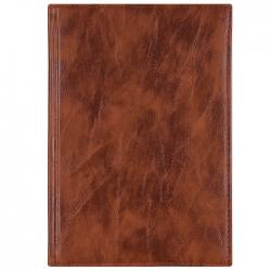 """Ежедневник 14*20,5см недатированный 192л """"Darvish"""" обложка к/з цвет коричневый,т.коричневый,.чёрный"""