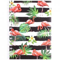 """Блокнот 10,5*15см 80л """"Фламинго"""" в линейку обложка пластиковая"""