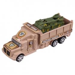 Автовоз военный с техникой. Игрушка цвет ассорти