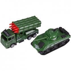 Автовоз военный с техникой. Игрушка