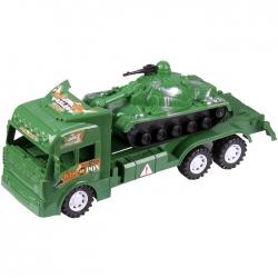 Автовоз военный с техникой (с танком). Игрушка