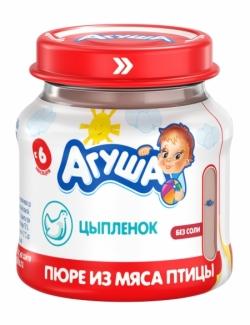 Агуша Пюре мясное Цыпленок 6% 80г ст/б