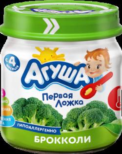 Агуша Пюре овощное Брокколи 80г ст/б
