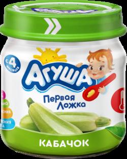 Агуша Пюре овощное Кабачек 80г ст/б