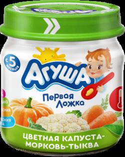 Агуша Пюре овощное Цветная Капуста Морковь Тыква 80гст/б