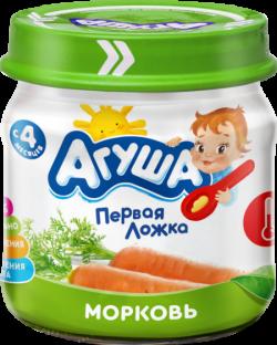 Агуша Пюре овощное Морковь 80г ст/б