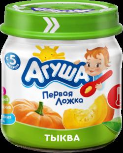 Агуша Пюре овощное Тыква 80г ст/б