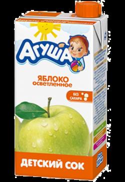 Агуша Сок осветленный Яблоко 500мл