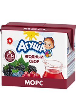 Агуша Морс Ягодный Сбор 200мл