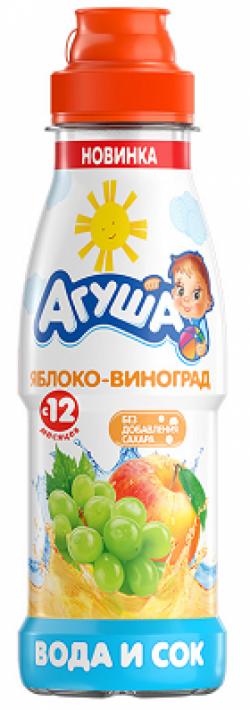 Агуша Напиток Сокосодержащий Яблоко Виноград 300 мл  пэт