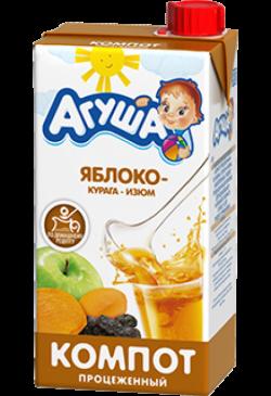 Агуша Напиток СокосодержКомп Курага Изюм Ябл 500 мл