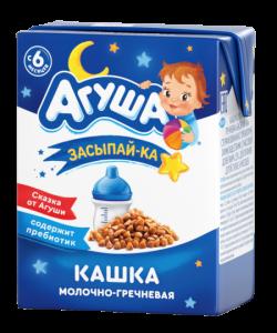 Агуша Каша Молоч 2,5%Гречка 200мл